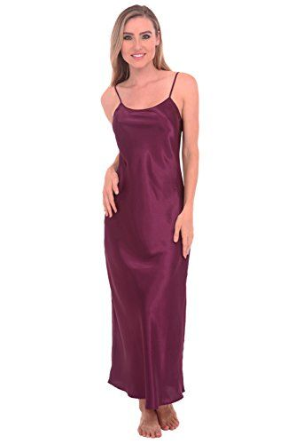 Del Rossa Women's Classic Satin Camisole Full Length Nightgown *** CONTINUE @ http://lingerie4everyone.com/store/del-rossa-womens-classic-satin-camisole-full-length-nightgown/?b=9871