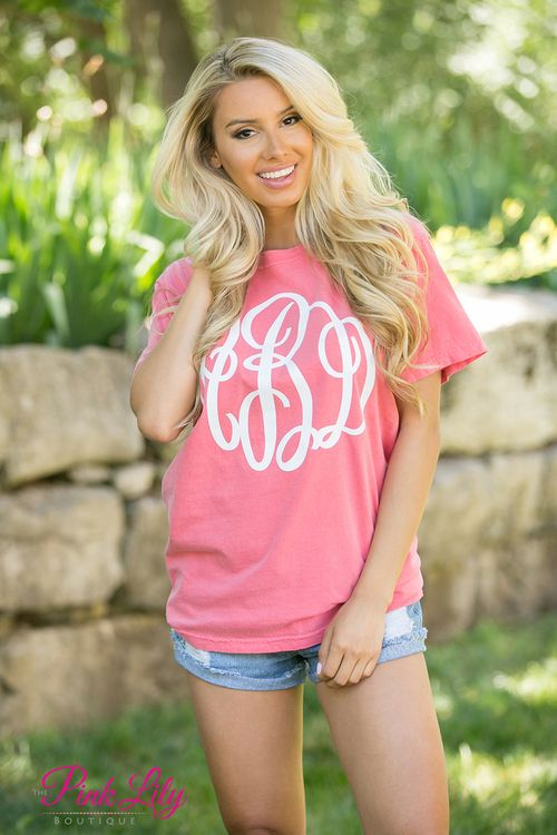 Your true colors are sure to show in this new vinyl monogram Comfort Colors short sleeve tee! It's perfect year round - from breezy spring nights in the backyard to summer afternoons on the beach. We offer a wide variety of colors in both the shirts and vinyl options to match any occasion or favorite color!