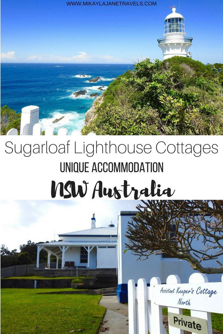 Sugarloaf Lighthouse Cottages Unique Accommodation NSW Australia | Best Accommodation In NSW Australia | Places To Visit In NSW Australia | #travel #travelaustralia #bestdestinations #uniqueaccommodation | www.mikaylajanetravels.com