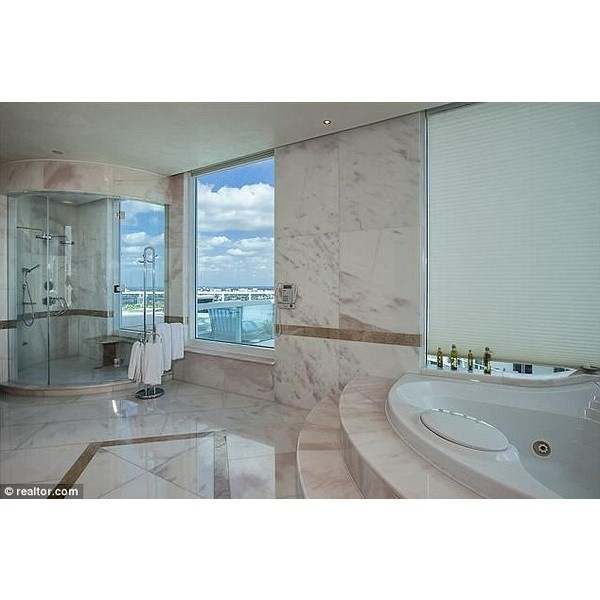 apartment awesome bathroom with white brown marble miami penthouse that is very luxurious and beautiful