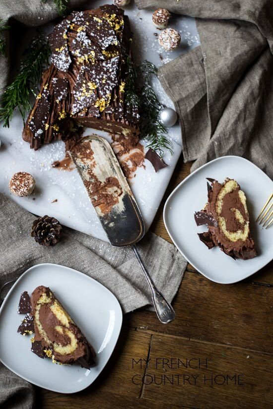 Dessert traditionnel : la bûche #leanfrench #frenchbook #fle