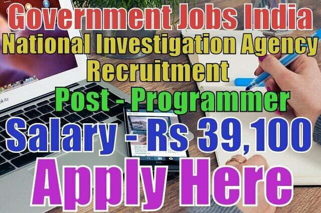 National Investigation Agency Recruitment Post - Programmer Salary - Rs 15,600 - 39,100 Last Date - 23-04-2017 Apply from given link in bio http://jobsgovind.blogspot.in