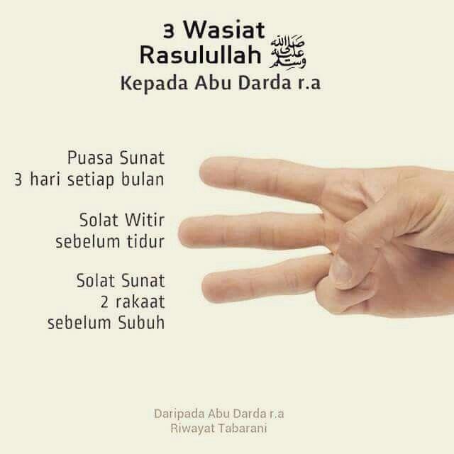 3 Wasiat Rasulullah s.a.w