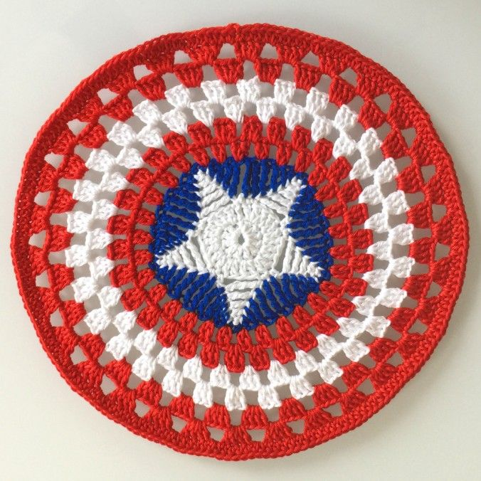 Free amigurumi pattern Captain America snuggle designed by Dendennis