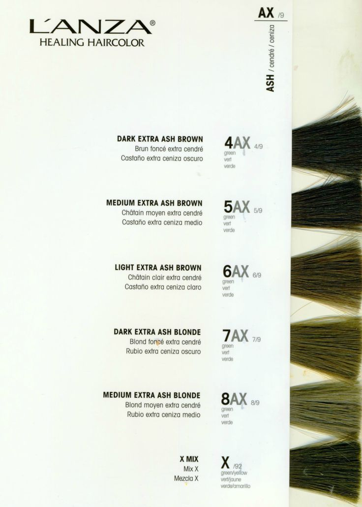 L Anza Healing Hair Color Chart Coloringsite