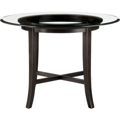 Halo Ebony Dining Table with 42 Glass Top by Crate