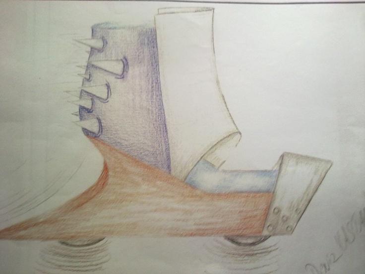 futuristic shoe design..