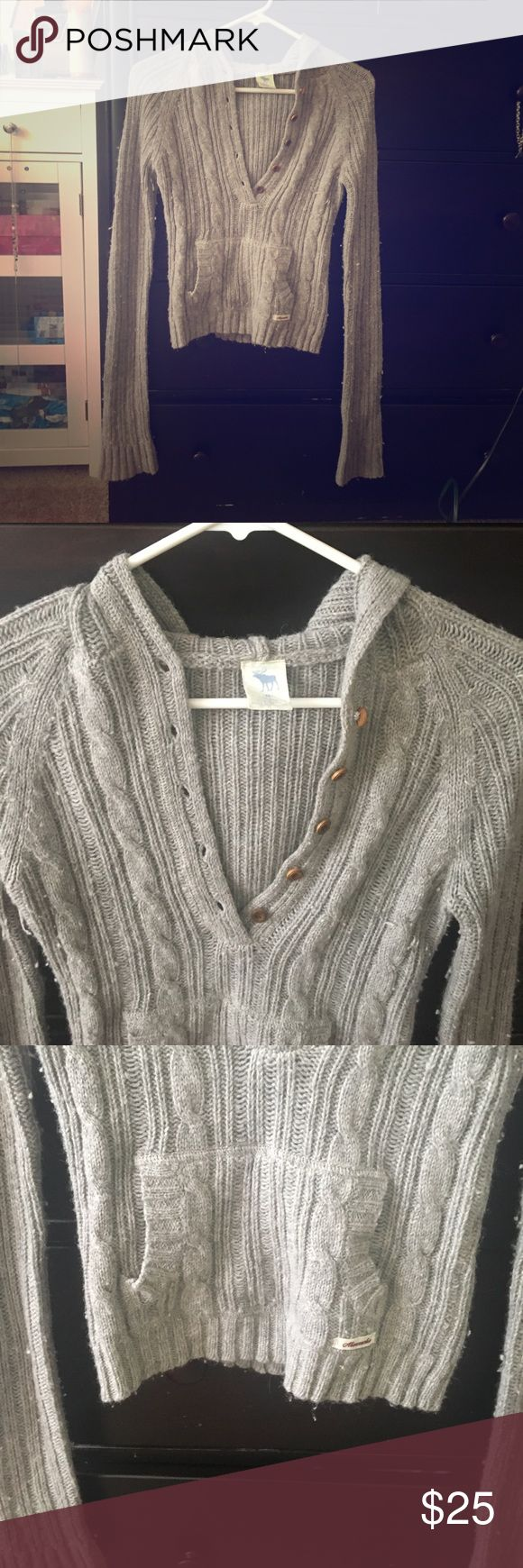 ABERCROMBIE & FITCH hoodie Abercrombie and Fitch thin hoodie. GORGEOUS!! Button up. Great for layering with a tank top!!😍 Abercrombie & Fitch Tops Sweatshirts & Hoodies