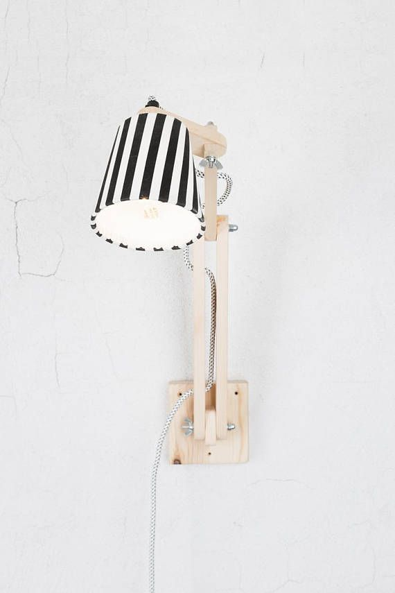 Articulated wall lamp handcrafted wall sconce by Decordemon