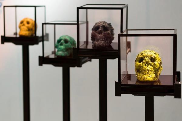 Mini skulls by Jacky Tsai