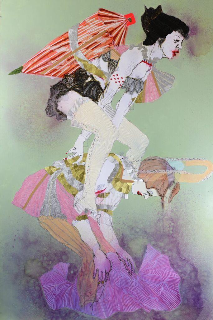 Carosello: Elena Monzo da Colossi Arte Contemporanea  In giro per Brescia ritrovando la pittura...