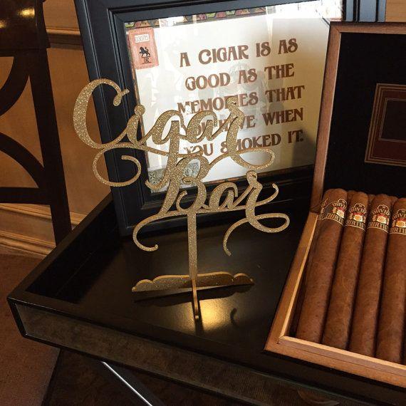 Cigar Bar Sign Cigar Bar Table Sign Cigar by PSWeddingsandEvents                                                                                                                                                                                 More