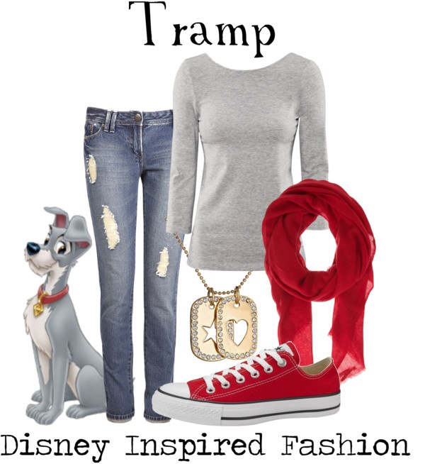 """""""Tramp - from Disney's Lady and the Tramp"""" by elliekayba ❤ liked on Polyvore"""