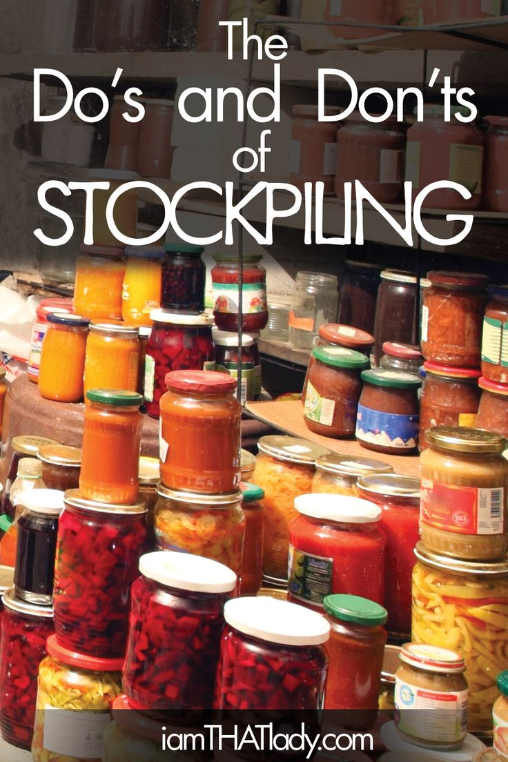 Trying to start a stockpile? Or is your stockpile becoming too much? Follow these do's and don'ts of stockpiling to make your stockpile AWESOME!