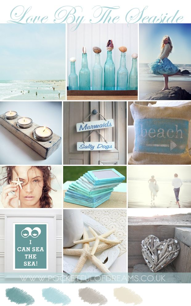 Coastal Wedding Inspiration by www.pocketfulofdreams.co.uk