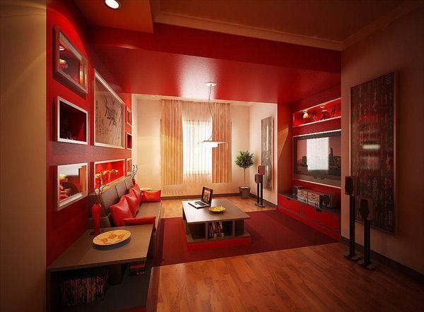 Kombinasi Warna Ruang Tamu Minimalis Warna Merah » Gambar 808