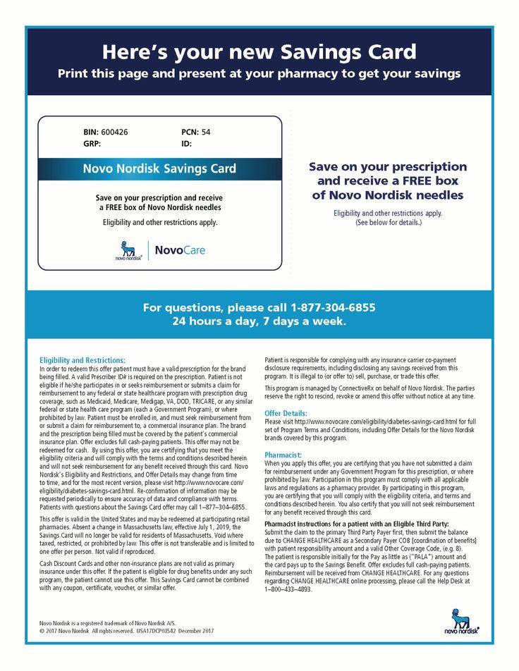 NovoCare   Savings Card for Victoza® (liraglutide ...