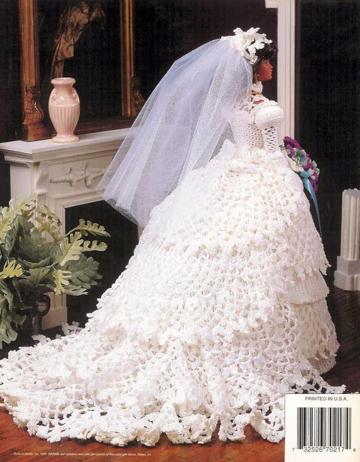 Barbie Crochê Miniaturas e Coisas Mais - De Tudo Um Pouco e Muito Mais: Vestido de Noiva de Crochê Para a Barbie - Annie's Attic