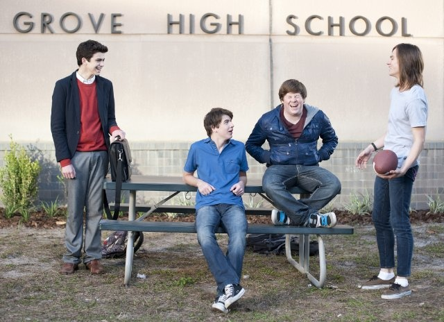 Bubba Lewis, Mark L. Young, Joey Pollari and Zack Pearlman in The Inbetweeners
