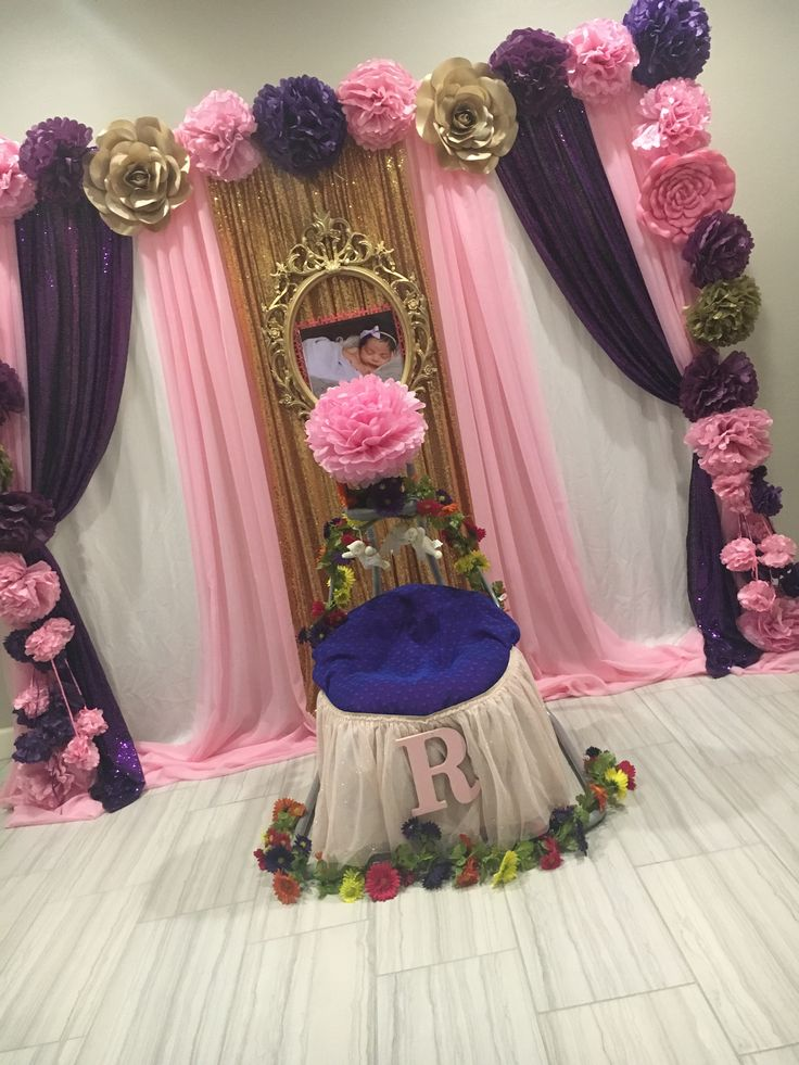 Cradle Ceremony backdrop by #bellapartydecor in Chandler AZ. 323-599-6506