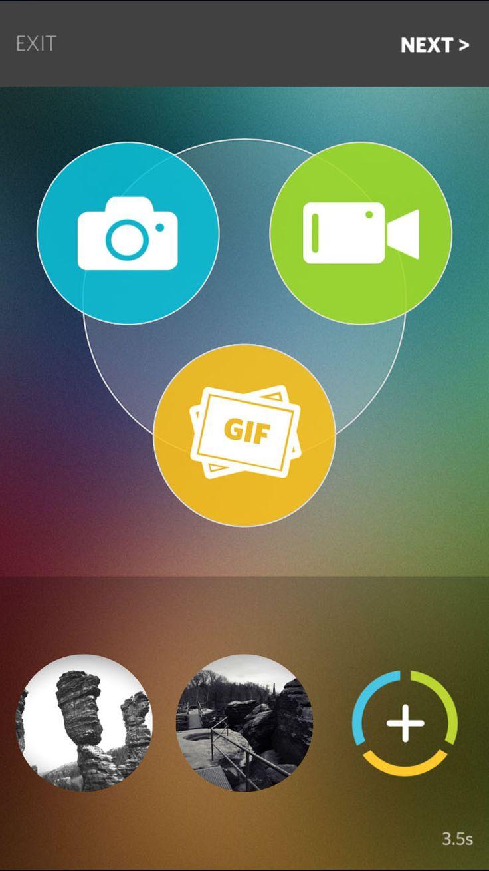 Screenshot Trio: Auswahl