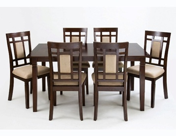 This Dining Collection From World Imports Features A Cappuccino Finish And Stylish Practical Design
