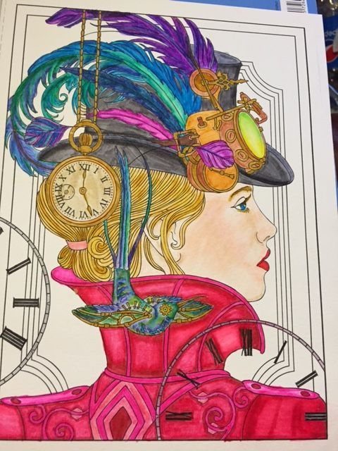 Creative Havens Steampunk Designs Tombow Markers On Watercolor Paper