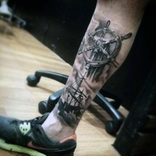 Tatuajes En La Pierna Para Hombres Con Los Mejores Disenos Tatuajes Pierna Tatuajes Tatuajes Nauticos