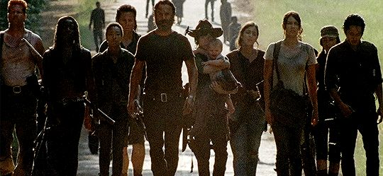 """We are the walking dead."" - Seriously, they look so tired :("