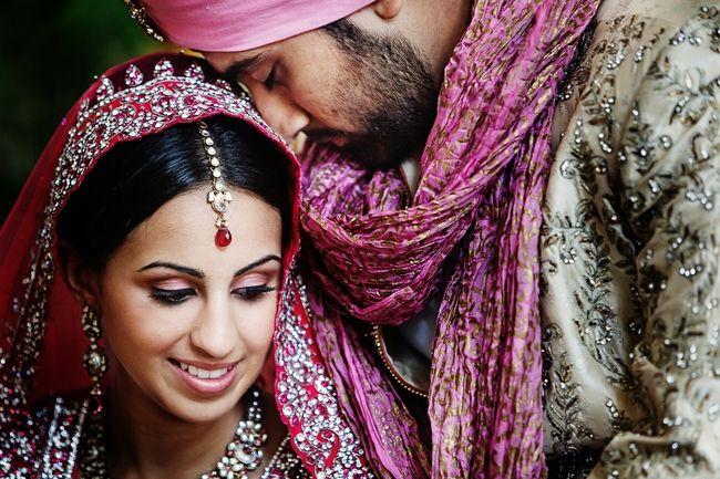 indian-wedding-bride-and-groom-portrat-nadia-d-photography #indianwedding