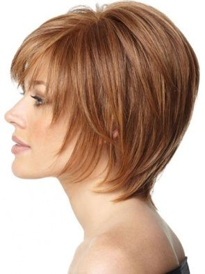 Short Auburn Straight Human Hair Wigs, Real Human Wigs, Human Hair Remy Wigs