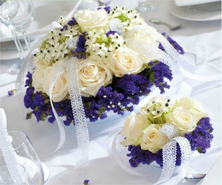 Decoration Table Bleu Ciel