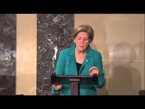 Elizabeth Warren's Speech on GOP Filibusters of Judicial Nominees.  I admire her so much.  She speaks the will of the people and those who don't have our best interests at heart are scared shitless of her.  I would love to see her make a Presidential run, she's fantastic and gutsy.