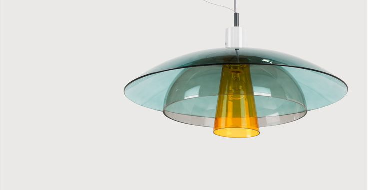 Lab Ceiling Pendant, Teal, Deep Grey and Mustard | made.com