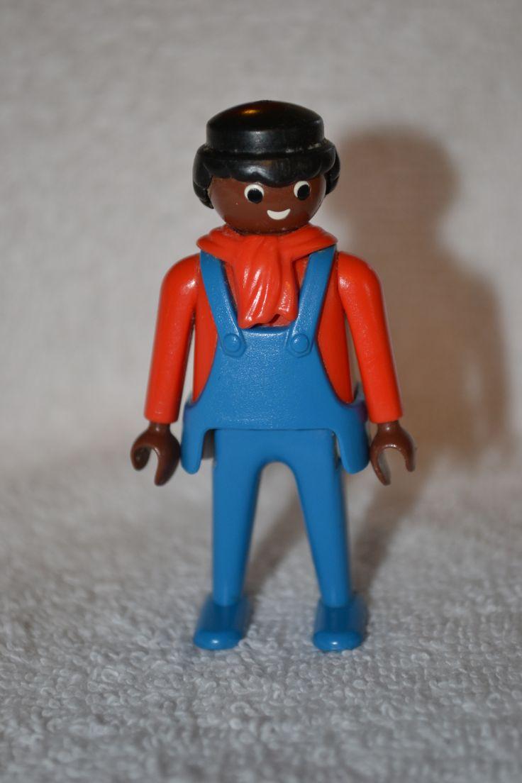 1974 Playmobil Geobra African American Trainman action ...