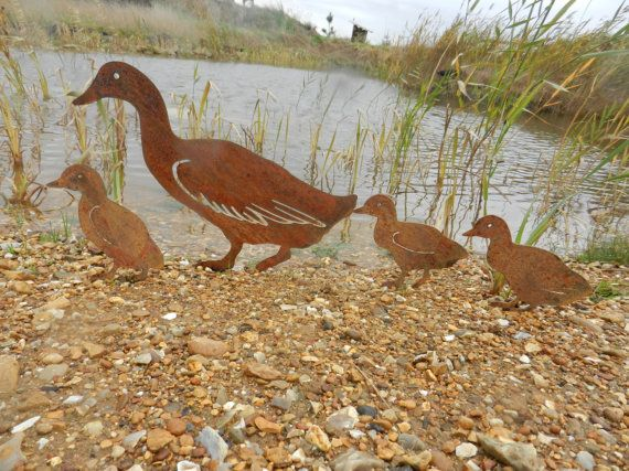 Rusty Duck Family / Duck Garden Art / Duck by RustyRoosterMetalArt