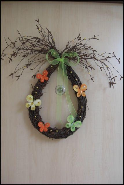 Jarní dekorace na vchodové dveře