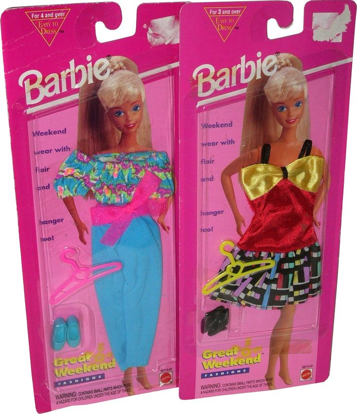 1995 Great Weekend Fashions Barbie Outfits 2 68014 91 Barbie Ropa