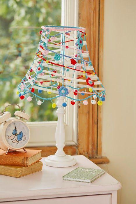 @ Cherry Heart: crocheted lampshade - instructions in Your Handmade Home magazine༺✿ƬⱤღ  http://www.pinterest.com/teretegui/✿༻
