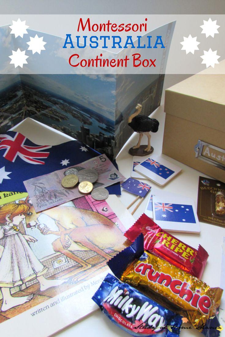 Montessori Australia Continent Box: Australia Geography and Culture exploration with kids
