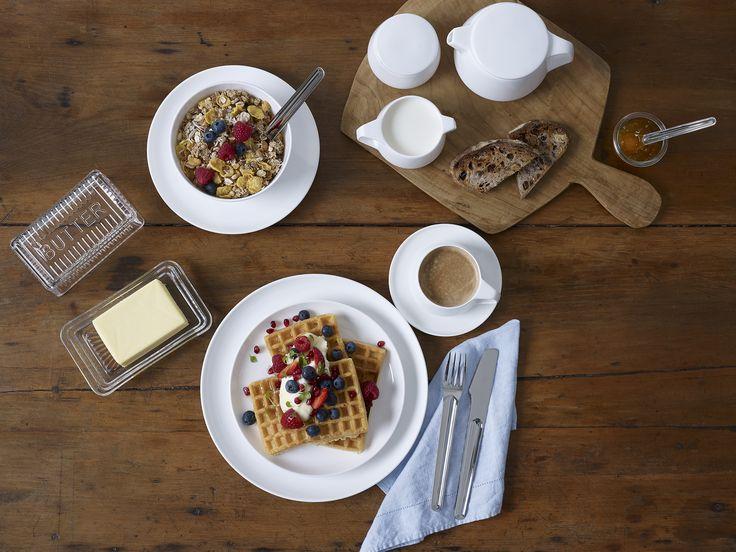 Noritake Marc Newson breakfast  Photography & styling by Brandee Meier www.brandeemeier.com.au