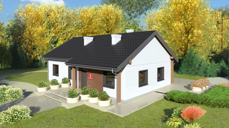 Wizualizacja Dom przy Bukowej 5 CE