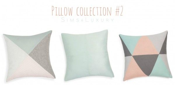 Sims4Luxury: Pillow collection #2 • Sims 4 Downloads