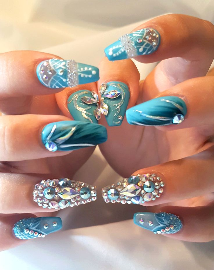 Pin by Peridot Queen on Nails | Pinterest | Stiletto nail art ...