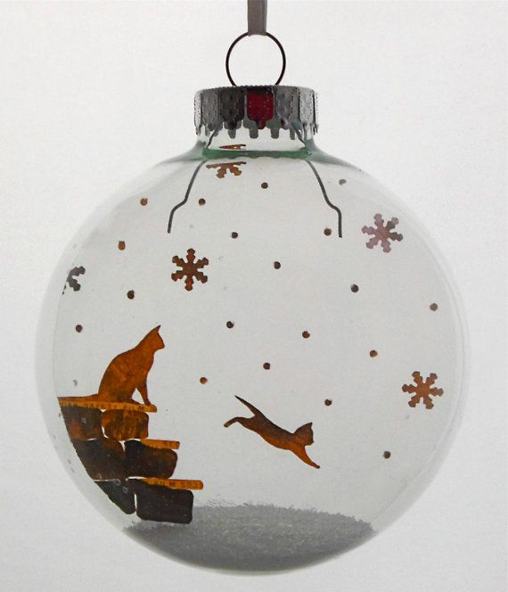 Super cute! Hey, I found this really awesome Etsy listing at https://www.etsy.com/listing/111354014/kittens-first-snow-holiday-ornament