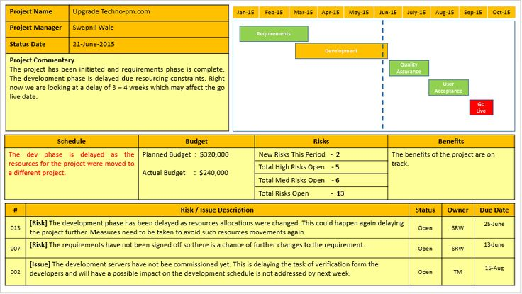 Status Report PPT Template