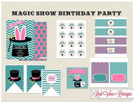 Magic Show Party Printables