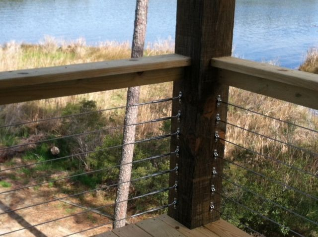 Cable System For Deck Railing Cable Rail On A Wood