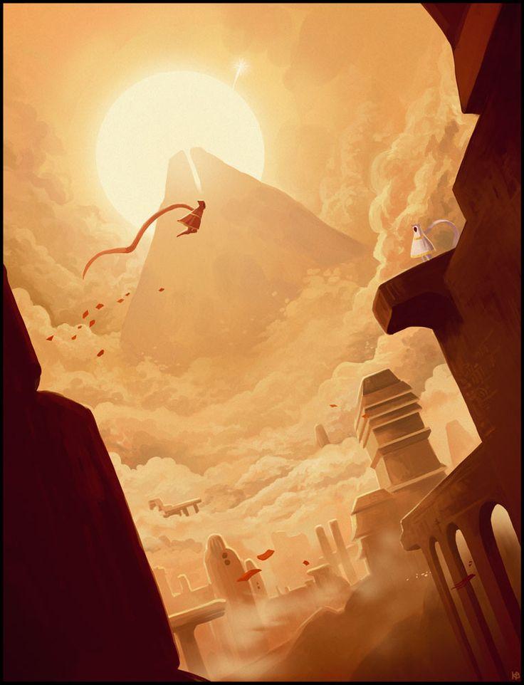 Fanart of the game Journey by Karbo.deviantart.com on @deviantART