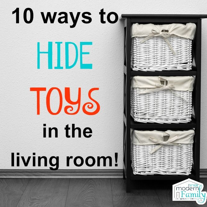 No one wants to see toys in the living room! Great ideas :)